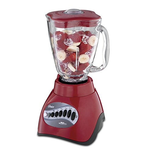 Oster 6831 10 Speed 5-Cup Blender, Red