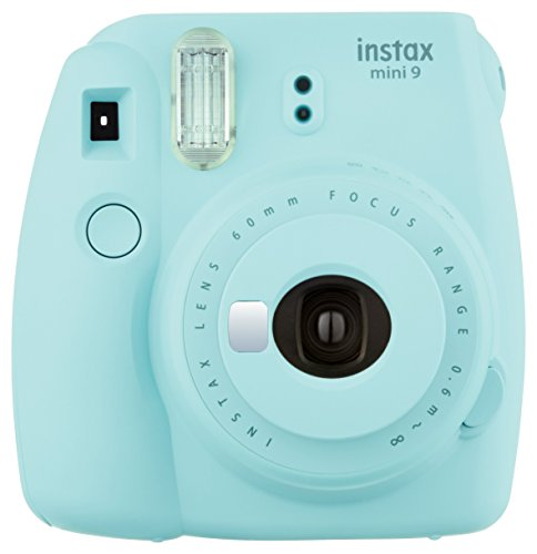 Fujifilm Instax Mini 9 Instant Camera - Ice Blue (Classic Polaroid Camera Film)