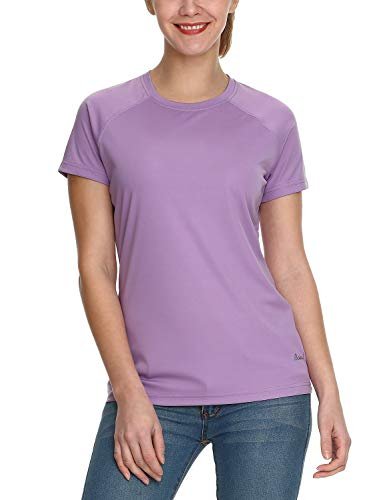 Baleaf Women's UPF 50+ UV Sun Protection T-Shirt Outdoor Performance Short Sleeve Purple Size S