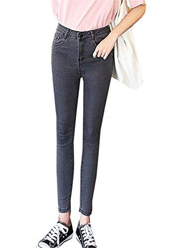Pants Pantalone Basic Jeans Dabag Alta Attillati Grigio 8 Unita Denim Da Primavera Donna Ragazzi Invernali Skinny Jeggings 7 Cotone Vita In Tinta xPIxvBqCw