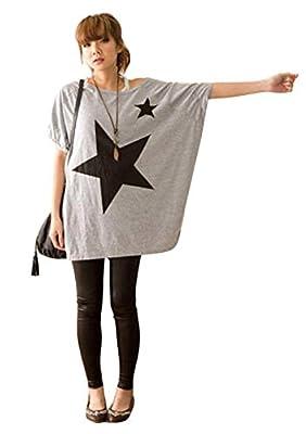 TOPUNDER Womens Long Sleeve Loose Shirt Blouse Tops