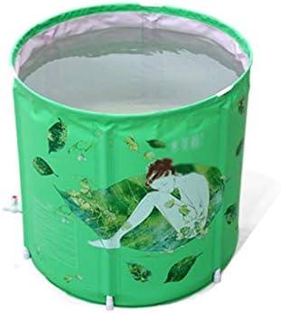 Kk 大人のためのポータブルプラスチックバスタブ、折りたたみスパ浴槽、浴槽浸漬 - (サイズ:65x65x70センチ)温度を保つためにインフレータブルアイスバスタブ、肥厚サーマルフォームを