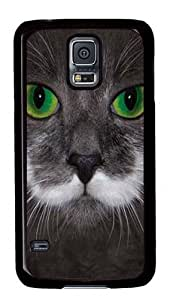 Big Face Hamilton The Hipster Cat Hard Case Cover for Samsung S5/Samsung Galaxy S5 Black