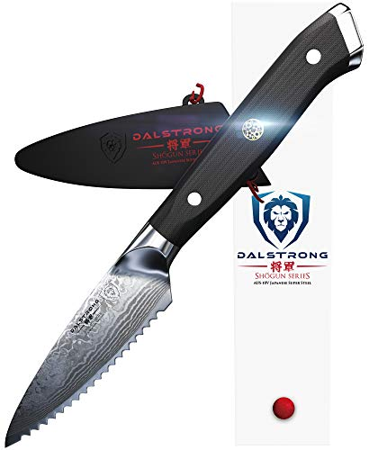3.5 Serrated Edge - DALSTRONG Serrated Paring Knife - Shogun Series - Damascus - AUS-10V - 3.5