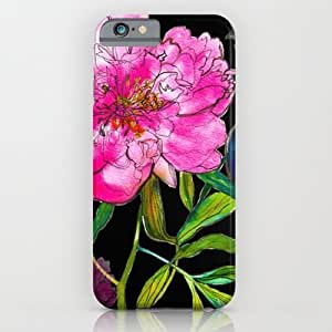 Society6 - Black Peony iPhone 6 Case by Marcella Wylie