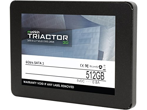 Mushkin TRIACTOR-3D - 512GB Internal Solid State Drive (SSD) - 2.5 Inch - SATA III - 6Gb/s - 3D Vertical TLC - 7mm - MKNSSDTR512GB-3D