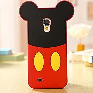 HC- La historieta del ratón de silicona caso de teléfono celular para Samsung Galaxy i9500 S4 , Rojo