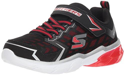 Skechers Kids Boys' THERMOFLUX-Nano-Grid Sneaker, Black/red, 13 Medium US Little ()