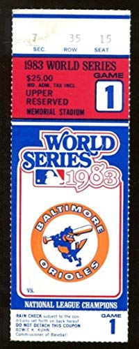 1983 World Series Ticket Orioles v Phillies Ripken 1st WS Game Ex/MT 43573