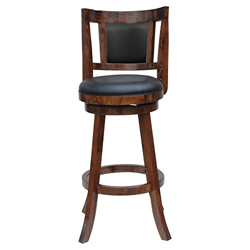 Boraam Avianna 24 Swivel Counter Stool in Walnut Finish