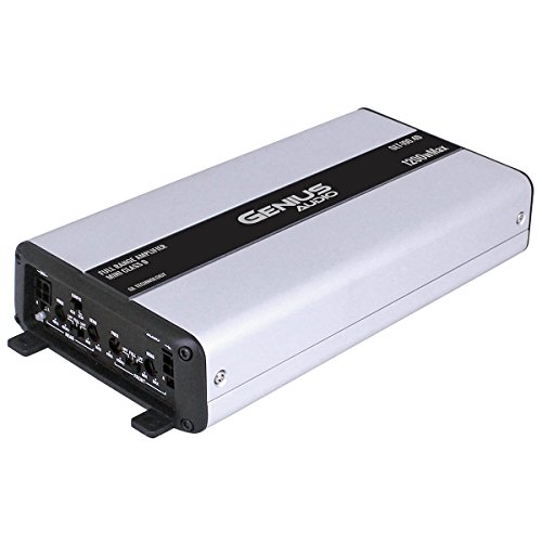 Genius GLT-100.4D 1200 Watts-MAX Mini Compact Car Full Range Amplifier 4 Channel Class-D 2-Ohm ()