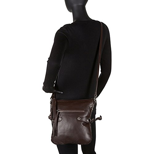 Scully Fringe Lamb Soft Brown Crossbody rpEqrCwT