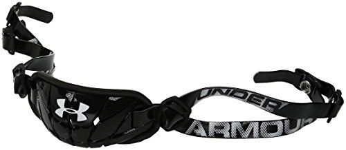 Under Armour Men's Gameday Armour Chin Strap, Black (001)/White, One Size - Nike Chin Strap