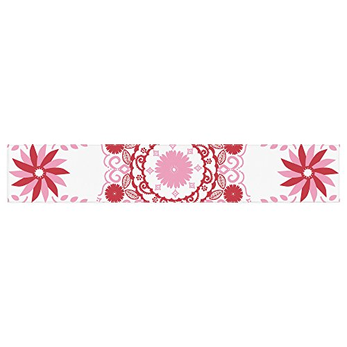 KESS InHouse Anneline Sophia ''Let's Dance Red'' Pink Floral Table Runner, 16'' x 180'' by Kess InHouse