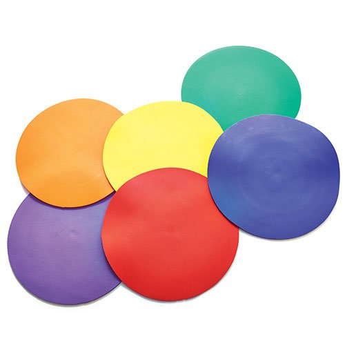 US Games Color My Class Non-Slip Spots (6-Pack)