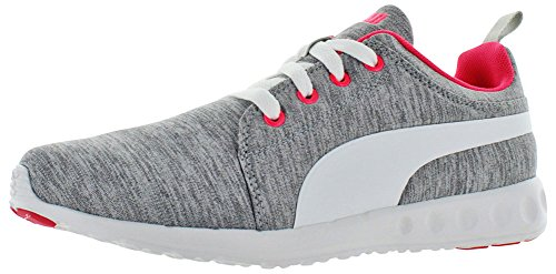 PUMA Herren Carson Runner stricken Lace-Up Fashion Sneaker Grau / Weiß / Hell Plasma
