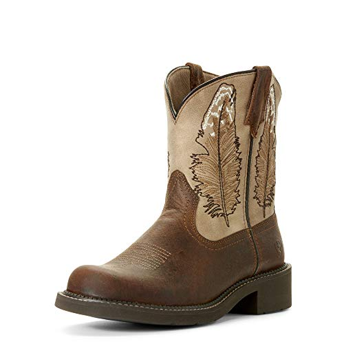 ARIAT Women's Fatbaby Heritage Feather Western Boot Dark Buffalo Brown Size 8.5 B/Medium Us