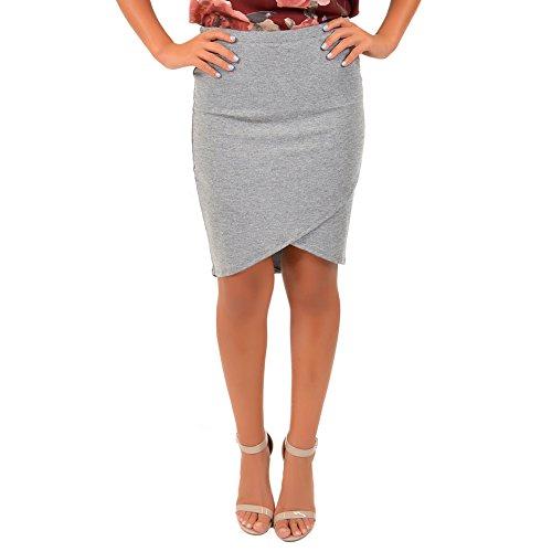 Gray Stretch Skirt - 2