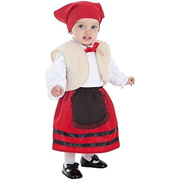 Disfraz de Pastora con Chaleco para bebé: Amazon.es ...