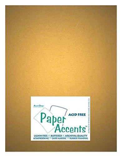 Accent Design Paper Accents ADP8511-25.877 - Cartulina perlada (8,5 x 28 cm), color dorado