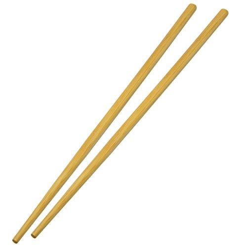 Round Chopsticks - UNIS Asian Style Reusable Natural Bamboo Chopsticks. 10 Pairs Set.