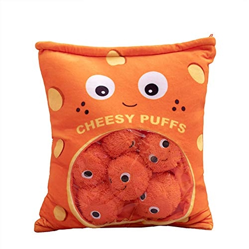 1bag Cute Throw Pillow Stuffed Toys,Removable Simulation Innovative Snacks Doll,for Home/Car/Office/Travel/School Decor…