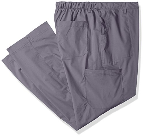 - Landau Men's Premium 6 Pocket Drawstring Cargo Stretch Scrub Pant Uniform, Steel Grey, 3X-Large