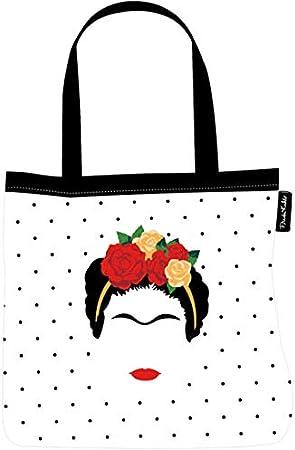 Groovy UK Bolso de Tela (Tote Bag) Frida Kahlo Minimalist: Amazon ...
