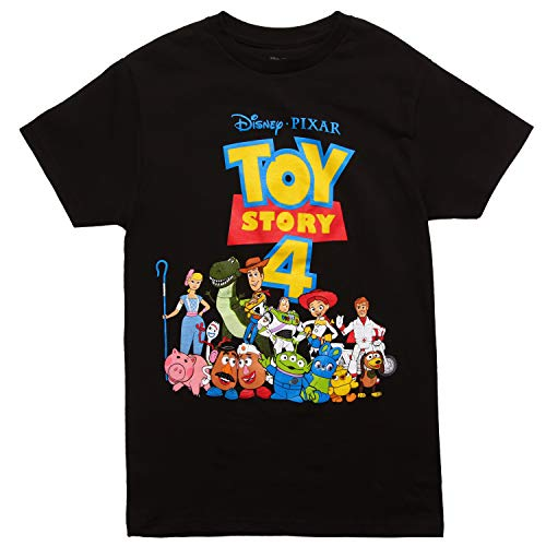 Toy Story Classic Group Adult T-Shirt - Black (Small) -