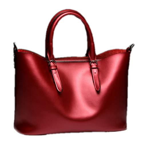 Sac bandoulière cuir cuir en de bandoulière main vachette Sentsreny à pour Sac femmes Red en sac à véritable à véritable qnEIxR8w