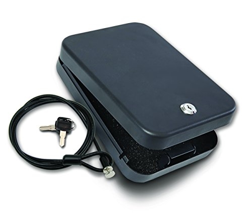 SnapSafe Lockbox with Key Lock for Handgun Storage of Full S