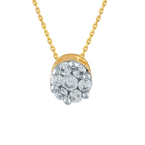 Giantti 14 carats Diamant Pendentif Femme Collier (0.0497 CT, VS/Si-clarity, Gh-colour)