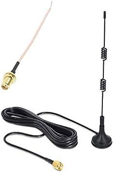 Exterior Antena Antena 433 MHz Cable de 3 M Base Magnética ...