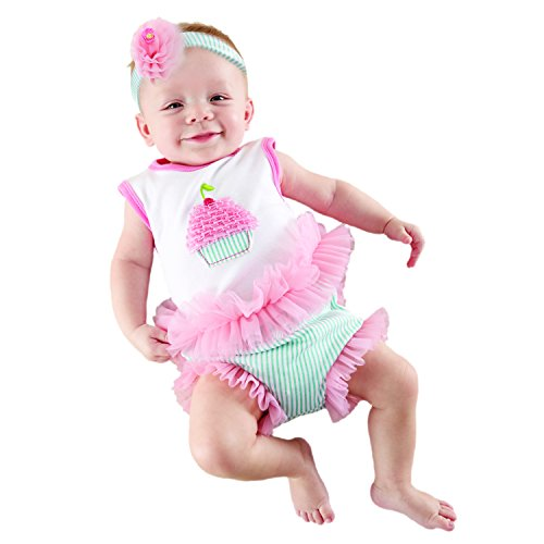 Baby Aspen, Baby Cakes 2-Piece Cupcake Outfit, 0-6 Months