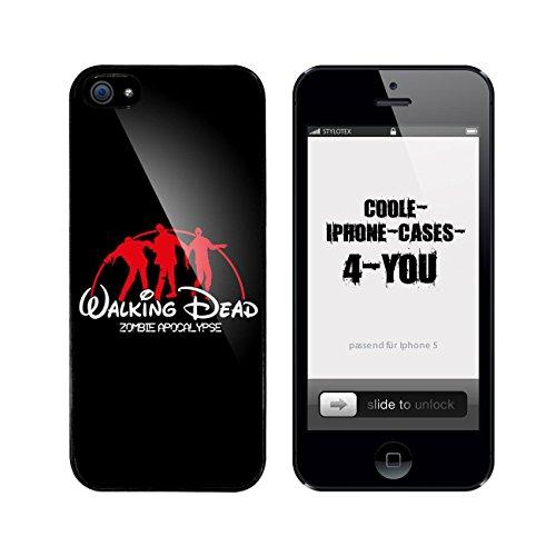 Iphone 5 / 5S Schutzhülle Walking Dead Zombie Apocalypse - schwarzer Rahmen