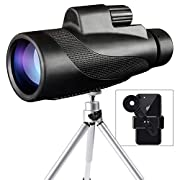 #LightningDeal 81% claimed: Monocular Telescope, 40x60 High Powered Monocular with Smartphone (Black)