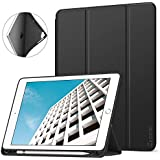 Ztotop Newest iPad 9.7 Inch 2018/2017 Case with Pencil Holder - Lightweight Soft TPU Back Cover with Auto Sleep/Wake, Protective for Apple iPad 6/5th Generation(A1822/A1823/A1893/A1954),Black