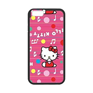 iPhone 6 Plus 5.5 Inch Cell Phone Case Black Hello Kitty Music Pattern LV7996096