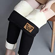 Fleece Lined Leggings for Women Girls Winter Warm High Waisted Thermal Pants