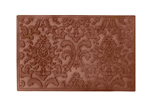 A1 Home Collections A1HCPR64-EP05 Doormat Brocade Eco-Poly Indoor/Outdoor Mat with Anti Slip Fabric Finish, Classic Brown (Poly Brocade)