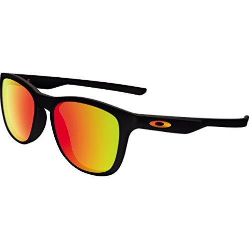 Oakley Men's Trillbe X Non-Polarized Iridium Rectangular Sunglasses, Polished Black, 52 - Oakley X Frame