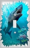 Great White Shark Decorative Switchplate Cover
