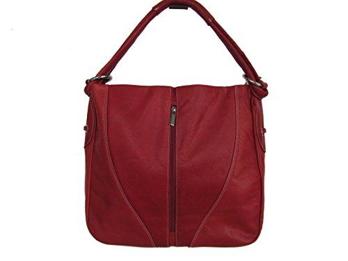 CLM Tasche Handtasche Rot Leder 1094 sIOEXvjMzv