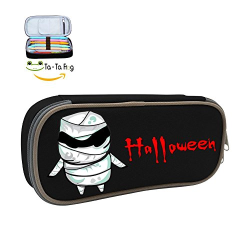 Funny Cartoon Mummy Halloween Pencil Box Pen Case Canvas Stationery Bag