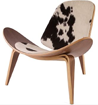 Amazoncom Wegner Leather Shell Chair Cowhide Chairs