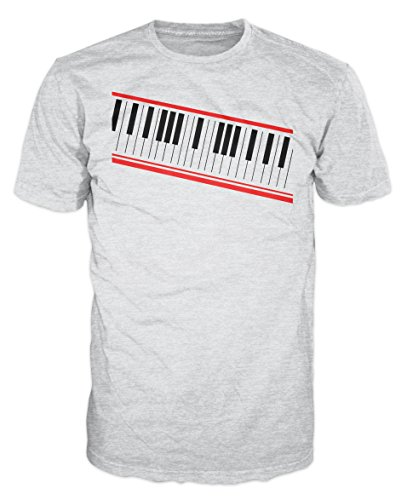 - Dalesbury Digital Piano Keyboard Swag T-Shirt (Ash Grey) (S)