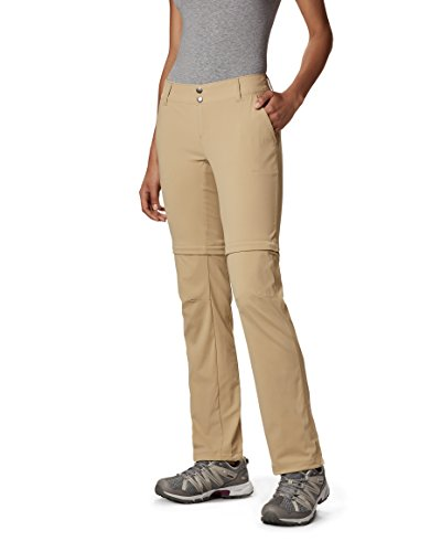 Columbia Women's Saturday Trail II Convertible Pant,British Tan,6 Regular, 6 Regular, British Tan