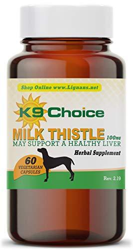 Lignans For Life Milk Thistle for Dogs 100 Mg (60 Vegetarian Capsules)