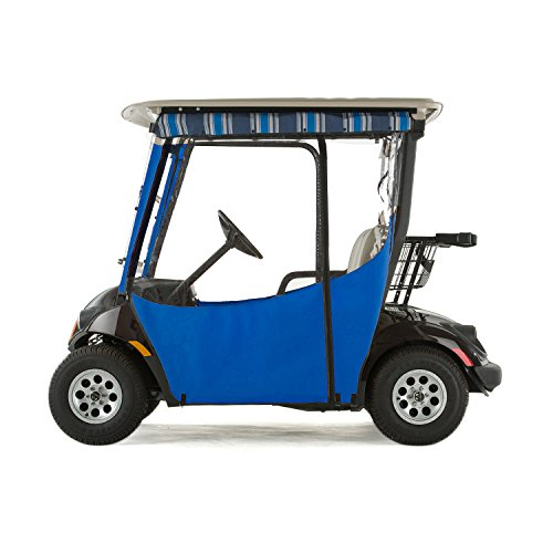 Yamaha Drive 2 Golf Cart PRO-TOURING Sunbrella Track Enclosure - Pacific Blue-PN