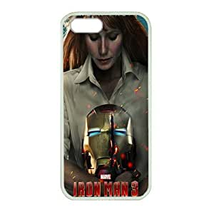 iPhone 5 case ,fashion durable White side design phone case, rubber material phone cover ,with Tony Stark and Pepper Potts .